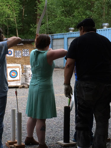 Shooting an arrow