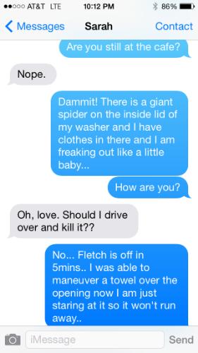 text with Sarah