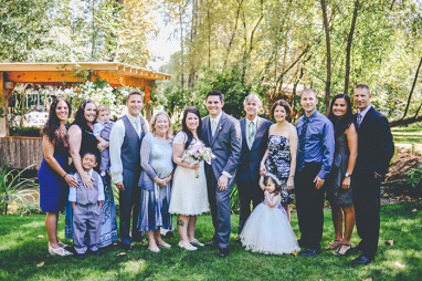 My entire family came out to help with the wedding! it was so wonderful having everyone in one place since everyone lives in different states.