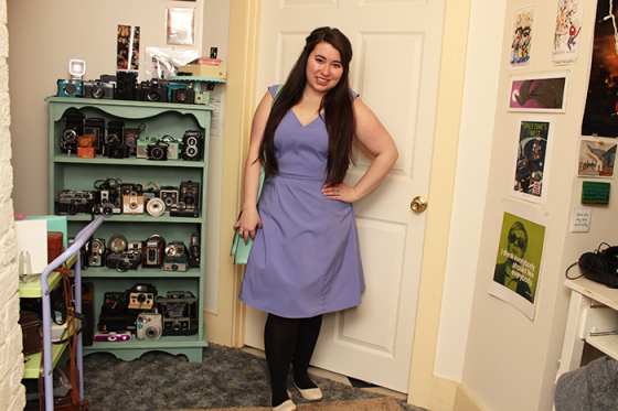 purple modcloth dress